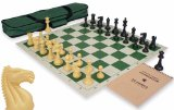 ClubTourney Tournament Chess Kit in Black & Camel - Green