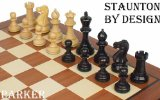 Parker Staunton Chess Set in Ebonized Boxwood & Boxwood - 3.25