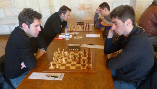 GM Davit Jojua and FM Quentin Loiseau