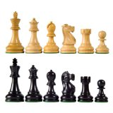 Deluxe Staunton Wood Chess Pieces with 3 3/4
