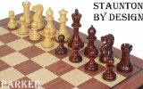 Parker Staunton Chess Set in Rosewood & Boxwood - 3.25