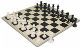 ClubTourney Black & Ivory Chess Pieces with Board - Black