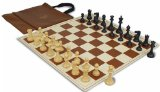 ClubTourney Kit in Black & Camel with Chess Set Bag - Brown