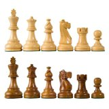 American Staunton Wood Chess Pieces with 3.75