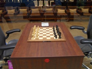 Proposed table and chess set  and chairs