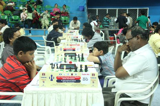 Players in action in Category B