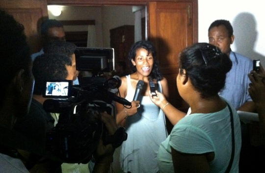 WFM Sabi Ravelomanana expressing her feeling about the WOM Promotional Tour in Madagascar