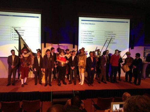 Opening ceremony of Tata Steel 2014 (photo @tatachess)