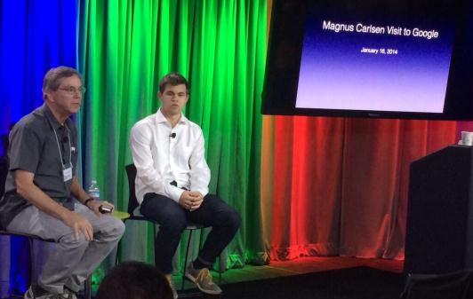 Apple Chairman, Art Levinson, interviewing Magnus at Google