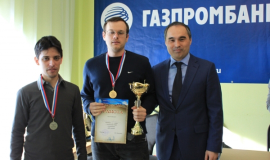 Alexander Evdokimov, Anton Demchenko and Chairman of the Astrakhan CF Askar Kabikeev